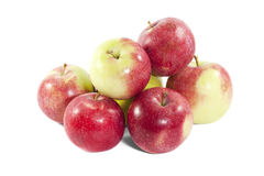 Hög av äpplen Arkivbild