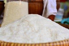 Hög av rice Arkivfoto