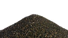 Hög av svart islandic sand Royaltyfria Bilder