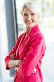 Hög kvinnlig företags arbetare Royaltyfria Bilder