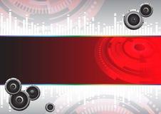hög musiktech för abstrakt bakgrund Royaltyfri Foto