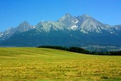 höga bergslovakia tatras Fotografering för Bildbyråer