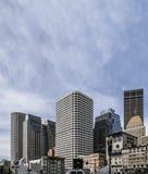 Höga byggnader av det finansiella området av den moderna staden, Boston MOR Fotografering för Bildbyråer