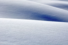 Hügel mit Schnee Lizenzfreie Stockfotos