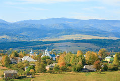 Hügelige Landansicht des Herbstes Lizenzfreies Stockbild
