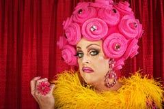 Högmodig transvestit Arkivbild