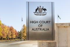 Högre domstoltecken Arkivfoton