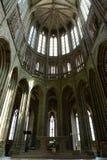 Högt gotiskt tak, Mont St Michel Arkivbilder