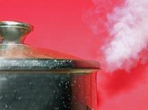 högt varmt ånga för krukatryck Royaltyfri Foto