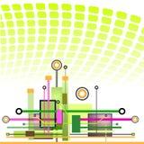 Högteknologisk teknologibakgrund Royaltyfri Fotografi