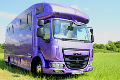 HGV Helios horsebox Royalty Free Stock Photography