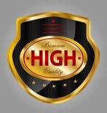 Högvärdig etikett för kvalitets- produkt Arkivbilder