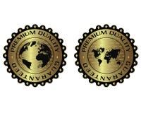 Högvärdig kvalitets- unik lyxig guld- etikett Fotografering för Bildbyråer