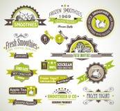 Högvärdig kvalitetssamling av fruktSmoothies, Arkivfoton