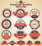 Högvärdiga kvalitetsetiketter Arkivbilder
