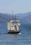 högväxt segla ship Royaltyfri Foto