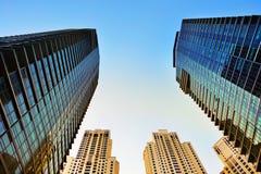 Högväxta byggnader Fotografering för Bildbyråer