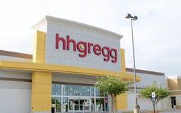 Hh gregg电子商店商店 库存照片