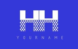 HH H H Dotted Letter Logo Design con el fondo azul Fotografía de archivo libre de regalías