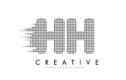 HH H H Letter Logo avec les points et les traînées noirs Images stock