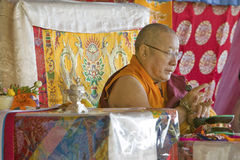 HH Penor Rinpoche, Tibetan-born Supreme Head of Nyingmapa Buddhism, presides over Amitabha Empowerment at Meditation Mount in Ojai Stock Images