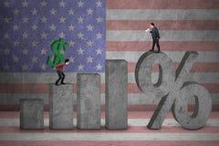 Höhere Zinssätze Stockfoto