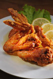 Hühnerflügel Stockfoto