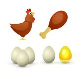 Hühnerprodukte Lizenzfreies Stockbild