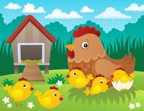 Hühnerthemabild 2 Lizenzfreies Stockbild