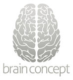 Hhuman brain concept. A conceptual illustration of the human brain from the top Stock Photo