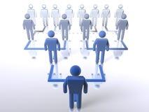 Hiérarchie d'affaires - bas jusqu'au dessus Photo stock