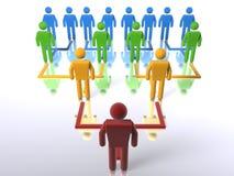 Hiérarchie d'affaires - bas jusqu'au dessus Image libre de droits