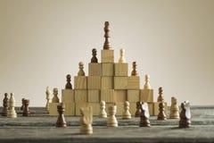 Hiérarchie d'affaires ; concept de rang et de stratégie Photo stock