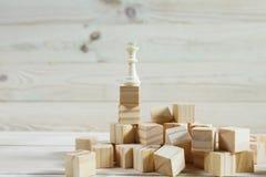 Hiérarchie d'affaires Concept de stratégie avec des pièces d'échecs Image stock