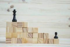 Hiérarchie d'affaires Concept de stratégie avec des pièces d'échecs Photos stock