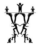 Hiérarchie de commandements illustration de vecteur
