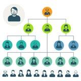 Hiérarchie de personnel ou plan de structure d'organisation illustration stock