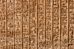 Hiéroglyphes égyptiens Photos libres de droits