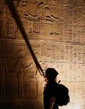 Hiéroglyphes égyptiens. Temple de Philae Photos stock