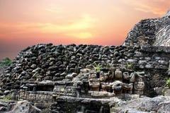 Hiéroglyphes de Caracol Photo stock