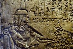 Hiéroglyphes de l'Egypte en vallée des rois Photographie stock libre de droits