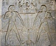 Hiéroglyphes sur un mur Photographie stock