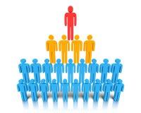 Hiërarchie van mensen. Stock Afbeelding