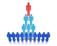 Hiërarchie van mensen. Royalty-vrije Stock Foto's