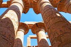 Hiërogliefen van Karnak-tempel Stock Afbeeldingen