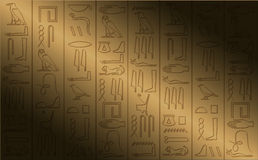 Hiëroglyfische affiche Royalty-vrije Stock Foto's