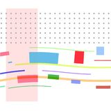 Ð¡omposition with colored rectangles and points royalty free illustration