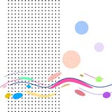 Ð¡omposition with colored rectangles and points vector illustration