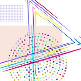 Composition with rectangles and points, lines stock illustration