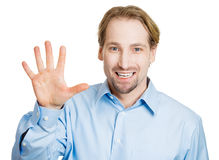 Hi, bye, or number five Stock Photography
